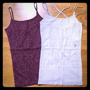 Two Aeropostale basic cami tank tops in XS NWT